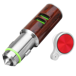 Car Charger Dual USB Hammer Port With bluetooth Earphone 1