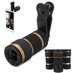 Practical 8x Optical Telescope Mobile Telephoto Lens with Clip for Smartphone Photographers 1