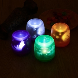 Colorful Flameless Voice Control LED Table Lamp Night Light for Christmas Halloween 1