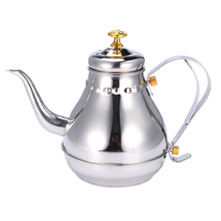 Silver 1.2L Capacity Stainless Steel Coffee Drip Kettles Tea Filter Pot Teahouse 1