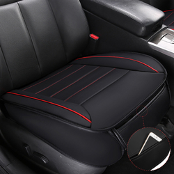 49x52cm PU Leather Car Seat Cushion Breathable Cover Chair Protector Mat Universal Black 1