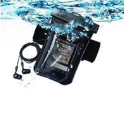 Waterproof Bag for you Smartphone with Music Out Jack and Waterproof Headphones - Color: Blue 1