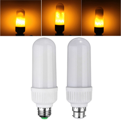 E27 B22 5W SMD2835 1800K 99LEDs Yellow Flickering Flame Corn Light Bulb AC85-265V 1