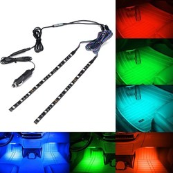 ARILUX?® 2PCS 30CM 5050 SMD Waterproof RGB LED Strip Light with DC Mini Controller+Car Charger DC12V 1