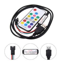 Mini USB 17 Keys Remote Controller for WS2811 WS2812B LED Strip Light DC5-24V 1