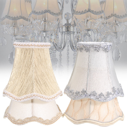 Vintage Small Lace Lamp Shades Textured Fabric Covers for Ceiling Chandelier Light 1