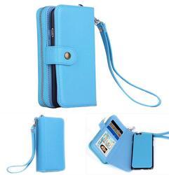 iPhone 6/6 Plus Clutch Purse with Detachable Phone Case -Color: Sky Blue, Style: iPhone 6 1