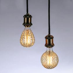 E27 40W Warm White Pineapple Fire Balloon Retro Vintage Edison Global Incandescent Light Bulb AC220V 1