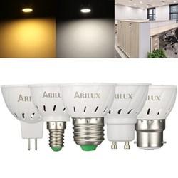 ARILUX?® E27 E14 B22 GU10 MR16 3W 250LM SMD2835 60LEDs Spotlight Bulb Pure White Warm White AC220V 1