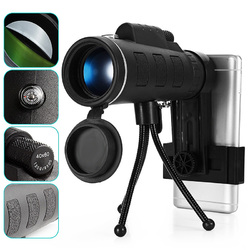 HD Ajustable Waterproof 40X60 Zoom Optical Lens Monocular Telescope with Holder For Outdoor Camping Traveling 1