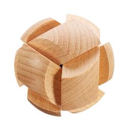 Kong Ming Lock Toys Children Kids Assembling Challenge 3D Puzzle Cube IQ Brain Wooden Toy 1