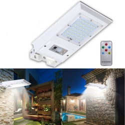 Solar Power 42 LED Remote PIR Motion Sensor Wall Outdoor Garden Street Light Waterproof Lamp 1