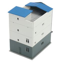 N Scale Gauge 1/144 White 4 Story Commercial Trade Model Building GUNDAM Model Scene 1