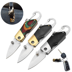 6.8cm Outdoor Survival Camping Fishing Folding Knife Multifunction Knife Keychain Tools Small Mode 1