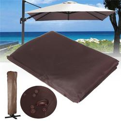260x70CM Brown Waterproof Garden Patio Parasol Umbrella Outdoor Canopy Protective Cover 1