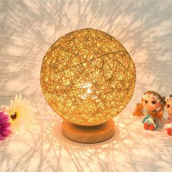 60W E27 Dimmable Sepak Takraw Wood Desk Light Night Lamp AC110--220V 1