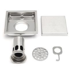 Bathroom Shower Floor Drain 304 Stainless Steel Square Shower Drain Strainer 110mmx110mm 1
