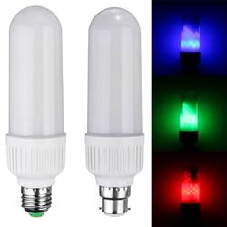 E27 B22 5W SMD2835 99LEDs Red Blue Green Flickering Flame Light Bulb AC85-265V 1