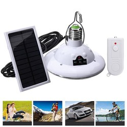 E27 Solar/Battery Powered 22LED Remote Control Camping Light Outdoor Hooking Emergency Lamp 1