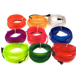 5M 8MM Width Flexible Neon Rope Tube LED Strip Light for Dance Party Car Decor with DC12V Driver 1