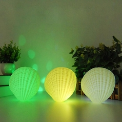 Creative 3W Colorful Shell LED Night Light Wireless Rechargeable bluetooth Speaker Music Home Decor 1