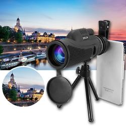 40x60 Monocular Ultra HD Optical Lens Low Light Night Vision Telescope + Clip + Tripod For Phone 1
