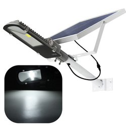 24W Solar Powered LED COB Light-controlled Sensor Street Road Light Waterproof for Outdoor Garden 1