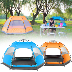 Outdoor 3-4 Persons Automatic Camping Tent Waterproof Double Layer UV Beach Sunshade Canopy 1
