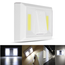 Battery Operated Wireless COB LED Night Light Super Bright Switch Lamp for Cabinet Closet Garage 1