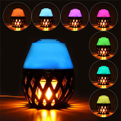 Colorful LED Torch Flame Flicker Night Light Humidifier Aroma Oil Diffuser Air Purifier 1