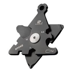 HX OUTDOORS 8 In 1 Mini 5.5 /7/8/10/12 EDC Nuts Hexagonal Array Tools Screwdriver Corkscrew Hook Opener Key Chain 1