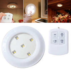 Wireless Remote Control Bright LED Night Light Battery Powered Ceiling Lamp for Kitchen Cabinet 1
