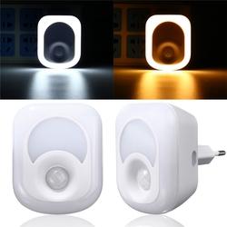 2W 23 LED Light-controlled & PIR Sensor Night Light Plug-in Hallway Bedroom Home Emergency Lamp 1