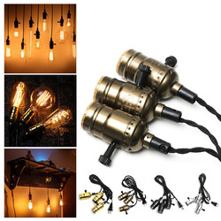 E27 Edison Chandelier Screw Bar House Retro Lamp Head Triple Light Bulb Adapter Sockets 1