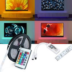 DC12V 5M SMD2835 24W Waterproof Alexa Smart Home WIFI Controller APP Control RGB LED Strip Light Christmas Decorations Clearance Christmas Lights 1