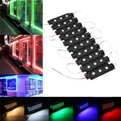 10PCS SMD5050 Waterproof 3LEDs Module Colorful Decorative Strip Light for Home DC12V 1