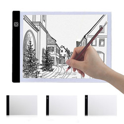 A4 2000LM USB 3Mode Diming LED Art Stencil Board Light Box Tracing Drawing Board Pad Table Work Lamp 1