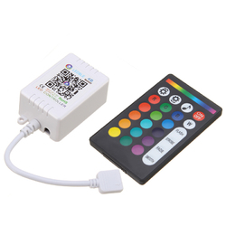 DC5-24V 6A bluetooth APP Music Controller + 24 Keys RF Remote Control for RGB LED Strip Light 1