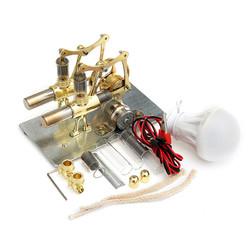 STEM Mini Hot Air Stirling Engine Generator Double Cylinder Engine Model 1