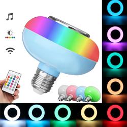 E27 12W RGB LED Light Bulb Lamp bluetooth Remote Control Music Speaker Play AC85-265V 1