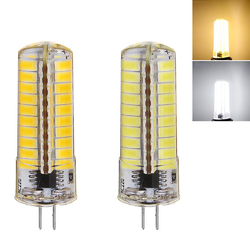 G4 6W Warm White/Pure White 5730 SMD 80LED Silicone Dimmable LED Bulb AC110V/220V 1