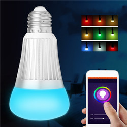 E27 B22 7W SMD5730 WiFi RGBW LED Smart Bulb Light Work With echo Alexa AC85-265V 1