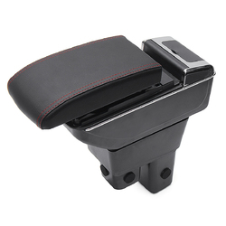 Black ABS Car Armrest Console Storage Box Organizer for Honda Fit Jazz 2009-2013 1