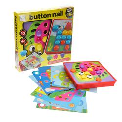 Button Nail 3D Puzzles Creative Children Assembling Big Mushrooms Enlightenment Educational Toys 1