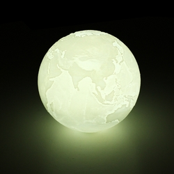 18cm 3D Earth Lamp USB Rechargeable Touch Sensor Color Changing LED Night Light Gift DC5V 1