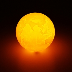20cm 3D Earth Lamp USB Rechargeable Touch Sensor Color Changing LED Night Light Gift DC5V 1