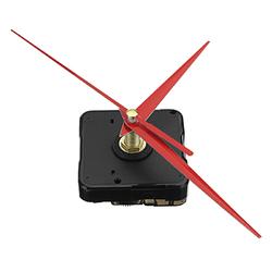 5pcs 20mm Shaft Length DIY Red Triangle Hands Silent Quartz Wall Clock Movement Mechanism For Replacement 1