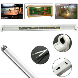 45CM T8 UVB Reptile Fluorescent Tube LED Bar Lamp Socket Bulb Adapter Stand with Wire Clip Holder 1