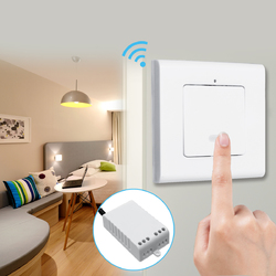 1 Way Wall Lamp Wireless Remote Control ON/OFF Light Switch + Receiver AC220V 1