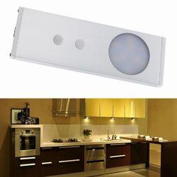 1.8W 9 LED IR Infrared Motion Cabinet Light Sensor Night Lamp Warm White/White DC12V 1